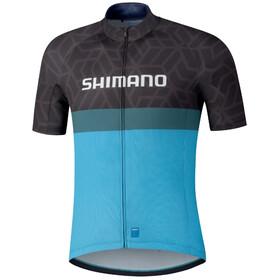 Shimano Team Jersey Men, czarny/niebieski
